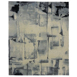 "Contemporary Abstract Paint Strokes Rug - 8'1"" x 9'11"""