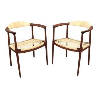 Hans Wegner Style Chairs - Pair