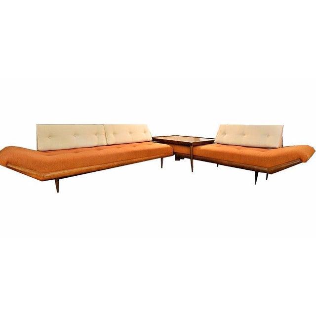 Mid-Century Three-Piece Sectional Sofa - Image 1 of 10