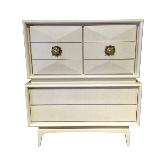 Diamond Sculpted Highboy Dresser - Image 1 of 8