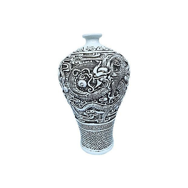 Chinese Sculpted Dragon Vase - Image 2 of 6
