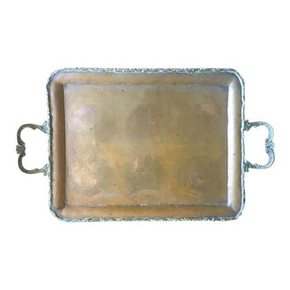 Vintage Copper & Brass Serving Tray