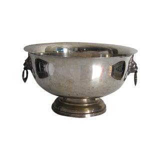 Sheffield Silver Lion Head Ice Bucket