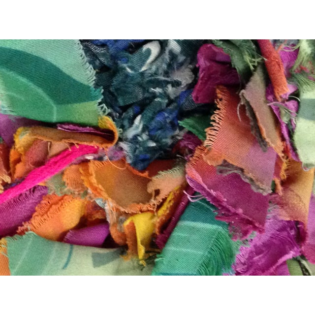 Boucherite Rag Carpet - 4′6″ × 5′ - Image 5 of 5