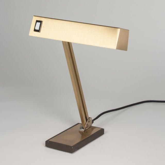 Vintage German 1960s Bronze Pivoting Desk Lamp - Image 6 of 10