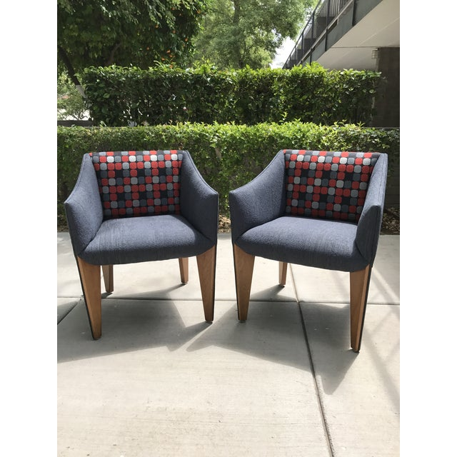 Mid-Century Modern Fin Leg Lounge Chairs - A Pair - Image 7 of 11