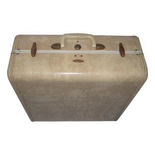 Mid-Century Beige Vinyl Samsonite Suitcase