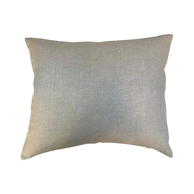 Nubby Homespun Striped Linen Pillow - Image 5 of 5