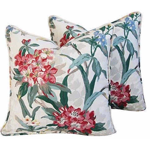 P. Kaufmann Rhododendron Pillows - A Pair - Image 1 of 7