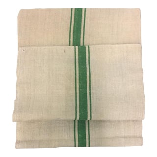 European Kelly Green Stripe Grain Sack Material
