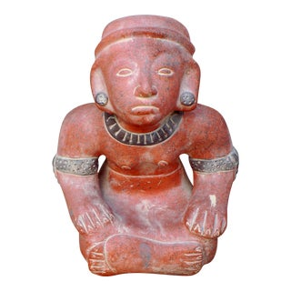 Ancient Tribal God Goddess Pottery Statue