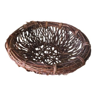 Artisan Wood Branch Nest Basket