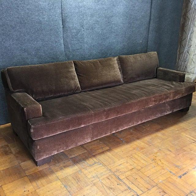 Crate Barrel Brown Sofa Throw Pillows Chairish