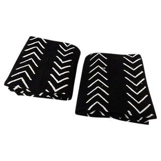 Malian Black & White Mud Cloth Textiles - A Pair