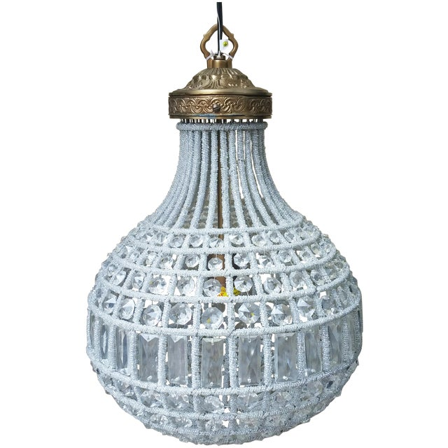 Image of Crystal Pear-Shaped Chandelier