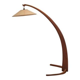 Lampa Curved Wood Floor Lamp