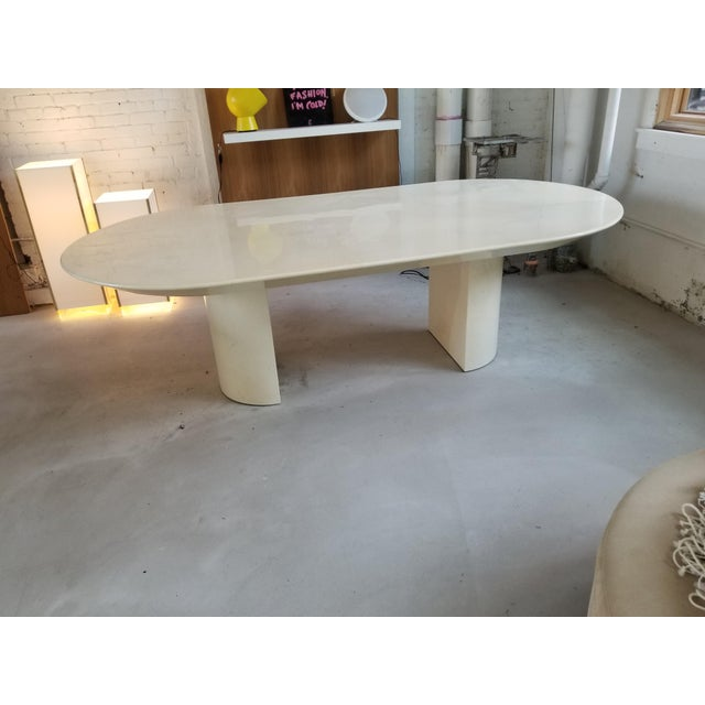 """Knife Edge Dining Table"" in Lacquered Goatskin by Karl Springer - Image 5 of 5"