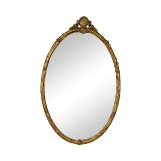 Friedman Brothers Oval French Style Gilt Mirror