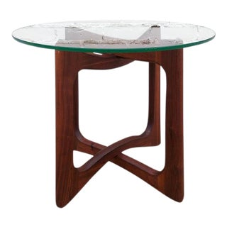 Adrian Pearsall Round Walnut Side Table