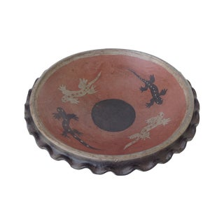 Vintage Terracotta Hand-Made Fluted African Bowl
