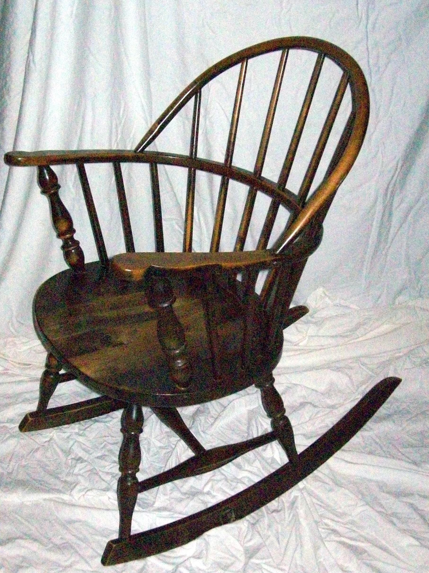 Antique Windsor Sack Back Style Rocking Chair Chairish