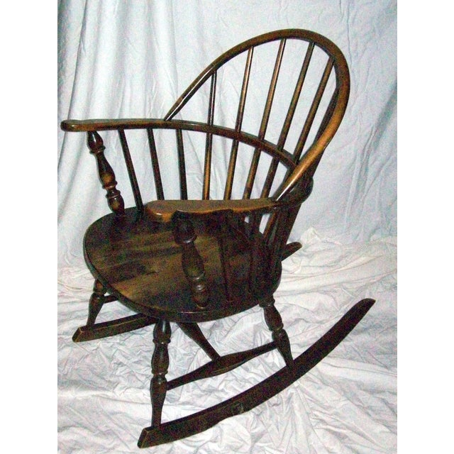 Antique Rocking Chair Styles ~ Antique windsor sack back style rocking chair chairish