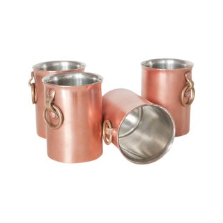 Blanc Creatives Hand-Made Copper & Brass Pints S/4