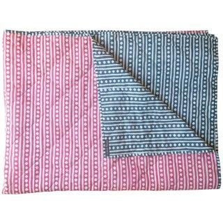 Indigo & Pink Quilt Coverlet