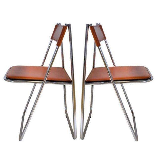 Tamara Folding Chairs by Arrben - A Pair - Image 3 of 7