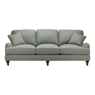 Spectra Home Traditional English Roll Arm Gray Sofa
