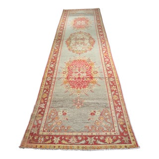 "Vintage Turkish Oushak Runner - 3'6""x13'5"""