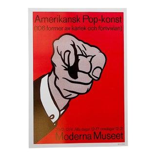 Vintage Poster Lithograph, Roy Lichtenstein