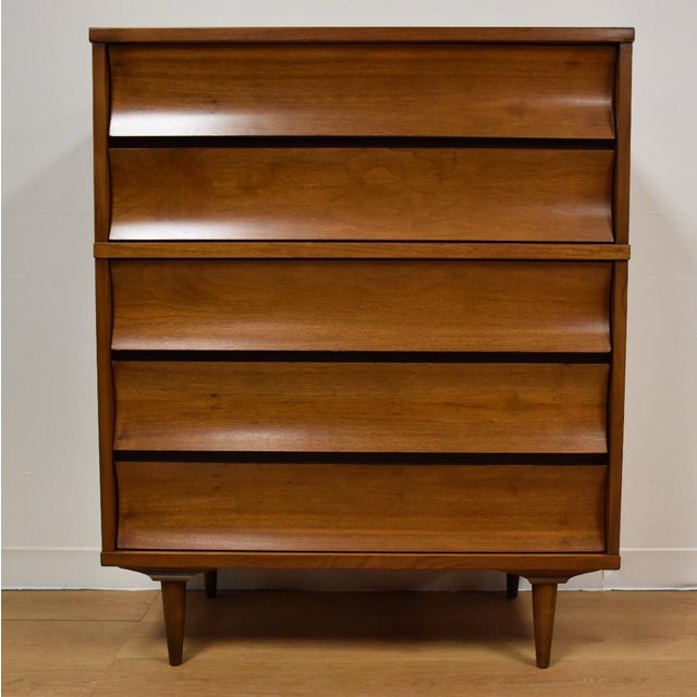 Johnson Carper Walnut and Formica Tall Dresser - Image 2 of 8