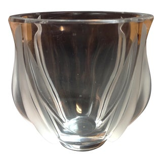 Sabino France Crystal Art Glass Vase