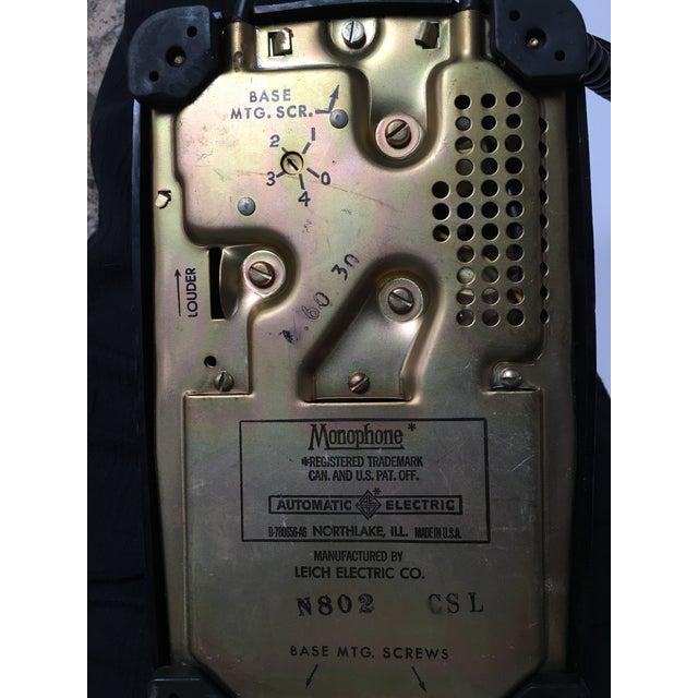 Vintage Leich Black Bakelite Dial Telephone - Image 5 of 9