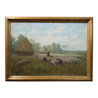 Martin Couland 1920s French Pastoral Landscape Oil Painting