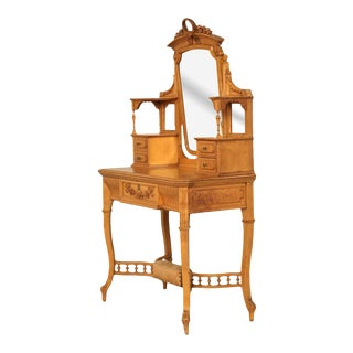 American Victorian Dressing Table With Mirror