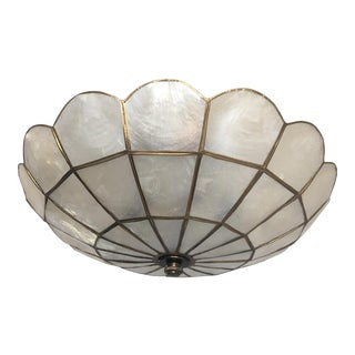 1950s Capiz Shell Ceiling Light