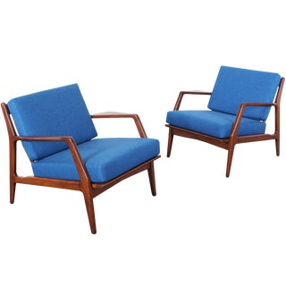Mid Century Lounge Chairs by Ib Kofod Larsen