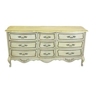 Mid Century French Provincial Dresser, 9 Drawer Dresser, Vintage Dresser