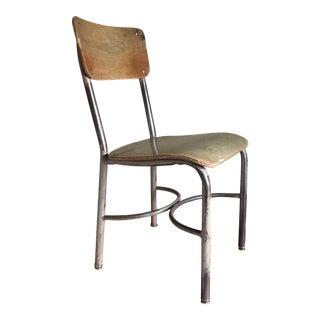 Vintage Industrial Wooden School Chair