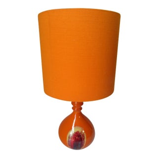 Bjorn Wiinblad for Rosenthal Mid-Century Orange Table Lamp