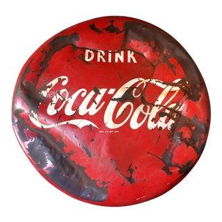 Vintage 1950s Coca-Cola Button Sign