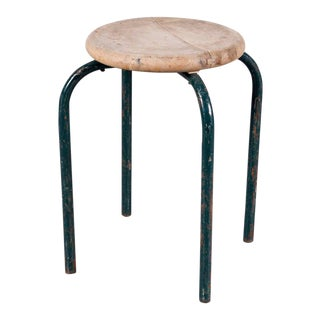 Industrial Stool in the Manner of Jean Prouvé Stool, circa 1950