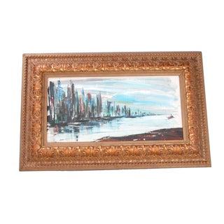 "Rod Rodgers Painting, ""East Side Skyline"""