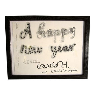 "David Hockney ""Happy New Year"" Facsimile"