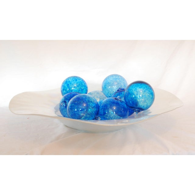 Iridescent Glass Bowl & Glass Balls - Image 2 of 9