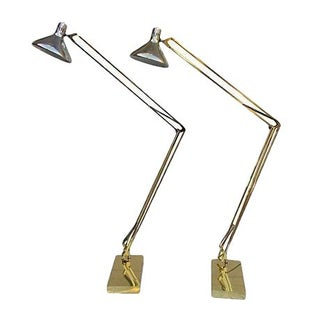 Drafting Style Floor Lamps - A Pair