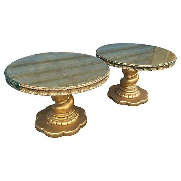 Image of Florentine Style Gilt Twist Tables - A Pair