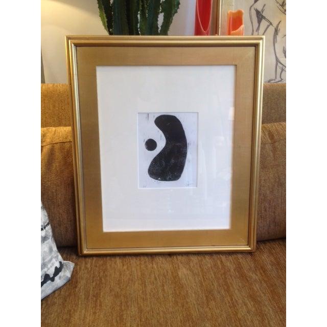 Original Lino Cut Modern Abstract Artwork - Image 2 of 3